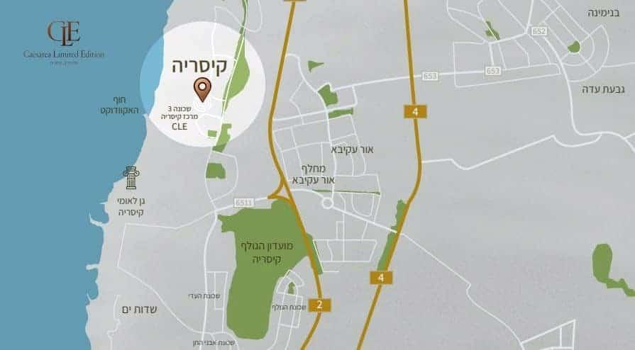 קיסריה שכונה 3 - מפה
